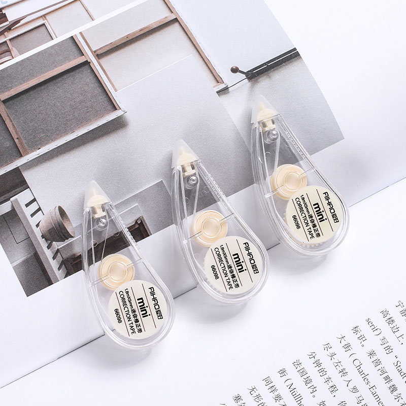 Student 2 Pcs/lot Kawaii Plastic White Correction Tape Cute Transparent Corrector Tape School Supplies 1243