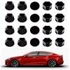 Für Tesla Modell 3 auto muttern Rad Mutter Abdeckungen Lug Mutter Abdeckungen Glänzend Schwarz auto zubehör rad center hub kappe abdeckung mutter bolzen
