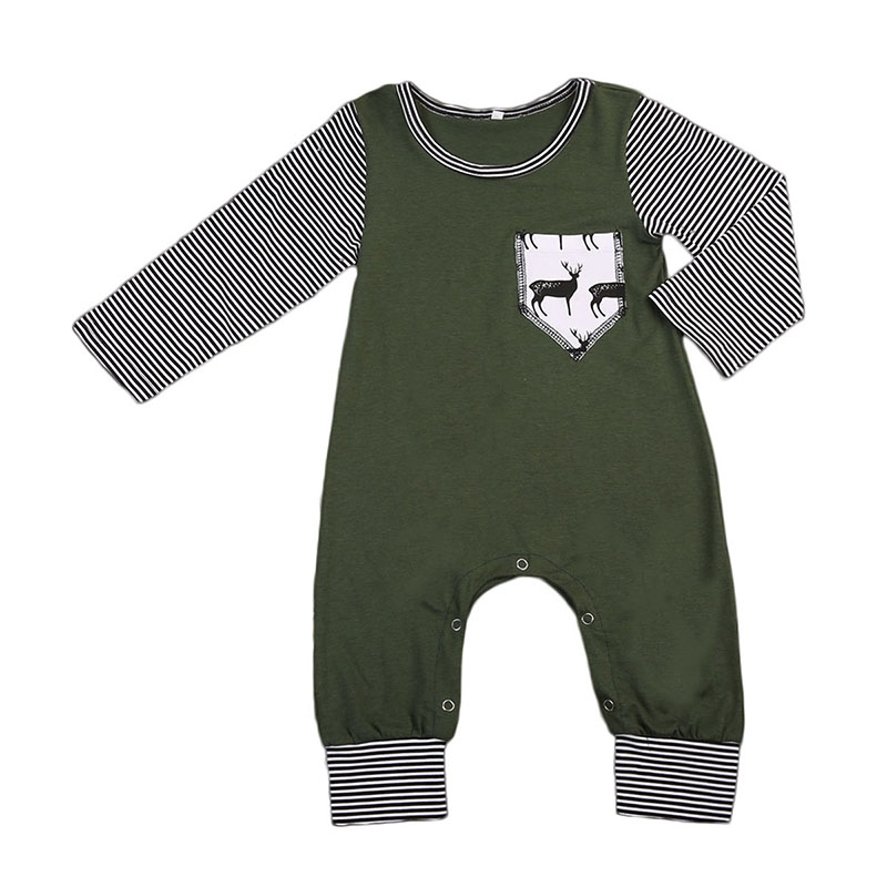 2017 Fashion Newborn Baby Boy Clothes Long Sleeve Pocket Toddler Kids Jumpsuit Romper Playsuit One Pieces Children Clothing infant baby girls boys denim romper jumpsuit one piece clothes playsuit newborn kids boy girl long sleeve rompers clothing