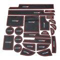 23 PCS Estilo Do Carro Não-slip Almofadas Porta Portão Slot Almofada Copo tapete Vermelho Branco Decoração Adesivo Cobrir Para Dodge Journey 2013 2014
