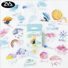 46pcs/box Good weather creative sticker diy hand gift bag sealing kawaii decoration adhesive tape Diary stationery stickers