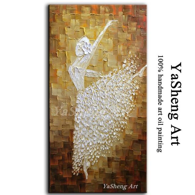 Handpainted Oil Painting On Canvas Abstract Art Ballet Modern Home Villa Hotel Sitting Room Corridor