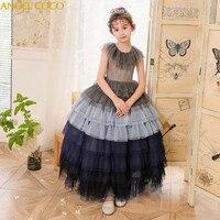 Детское платье подружки невесты с цветочным узором для девочек, свадебное платье для девочек, вечерние платья, летнее подростковое платье п