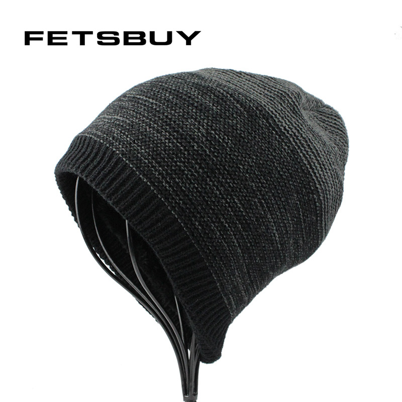 [FETSBUY] Winter Hat Knitted Hats Mens s