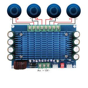 Image 2 - 50W * 4 TDA7850 רכב 4 ערוצים 12V גדול כוח ACC אודיו דיגיטלי מגבר לוח