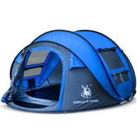 HUILINGYANG Outdoor 3 4 Persons Automatic Speed Open Throwing Pop Up Windproof Waterproof Beach Camping Tent