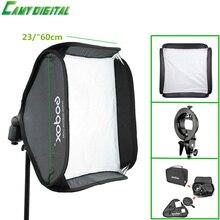 "Godox S-Type Кронштейн Боуэн Гора + Софтбокс 23 ""/60 см Комплект Для Камеры Flash/Speedlite/сот/SoftBox/Салон Блюдо/Зонтик, и т. д."