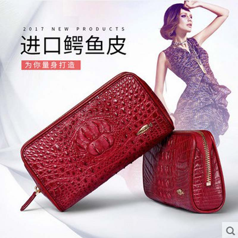 yuanyu 2018 The new alligator leather women purse thai crocodile women handbag female real crocodile  bag lady yuanyu new crocodile wallet alligatorreal leather women bag real crocodile leather women purse women clutches