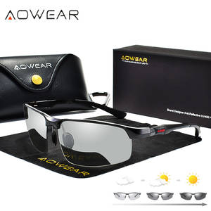 AOWEAR Polarized Male Color Sun Glasses Driving Eyewear