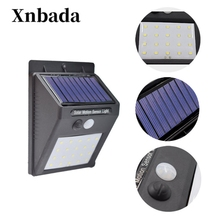 цена на LED Solar Power PIR Motion Sensor Wall Light 20 LED Outdoor Waterproof Energy Saving Street Yard Path Home Garden Security Lamp