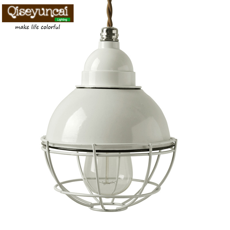 цены Qiseyuncai Modern minimalist personality iron single head cage small restaurant bar aisle chandelier creative corridor lighting