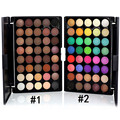 Popfeel mack up mini naturaleza portátil 40 colores de sombra de ojos maquillaje cosmético shimmer mate paleta sombra de ojos con el cepillo