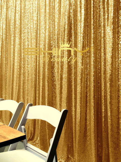ShinyBeauty 8FTx7FT Gold Sequin CurtainEmbroidery Glitz Backdrop A