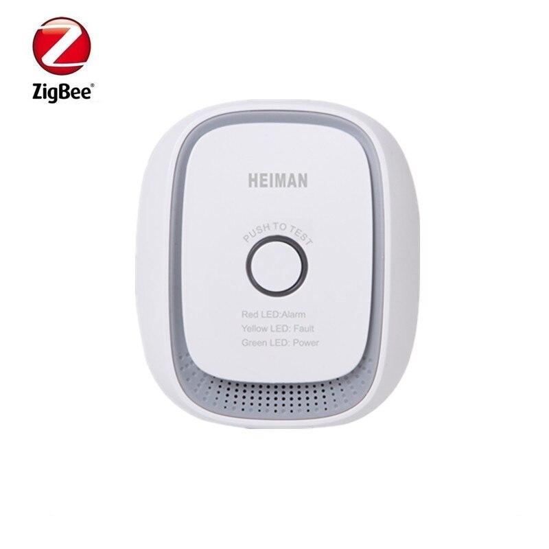 Heiman Zigbee Smart Combustible Gas Sensor Detector LPG Gas Detector Control By Smart Zone IOS Andriod App