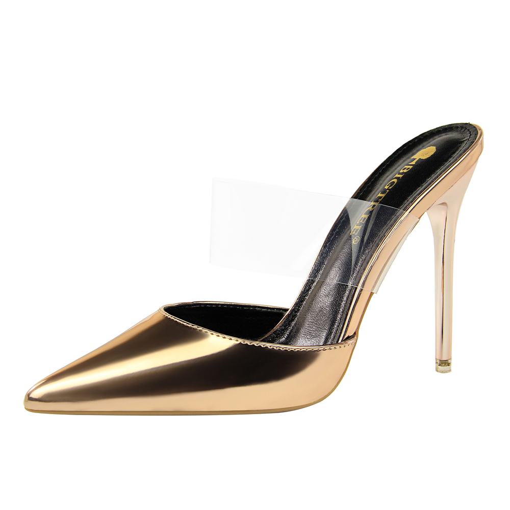 690aa1477aa1 Bigtree sexy thin heels women pointy toe pumps clear transparent jpg  1000x1000 Real transparent mule