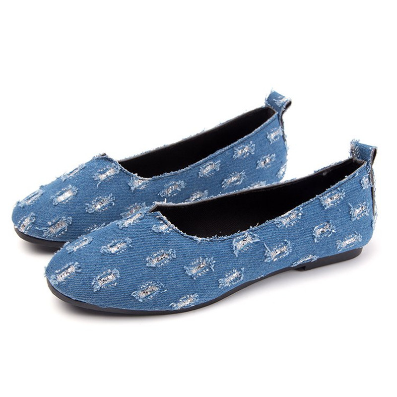 Promotional products Spring and autumn fashion popular Sexy Comfortable  denim Flat shoes Young woman Women s shoes 35-40 905a62b290