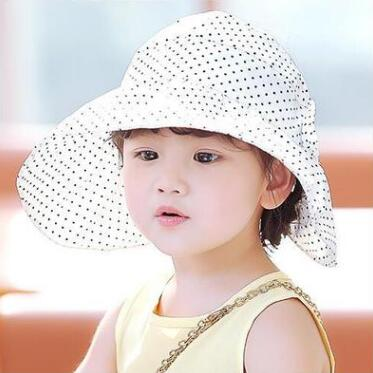 5b41016407c Baby summer outdoor girl visor cotton sun hat baby hat flower print beach  bucket hat lace .