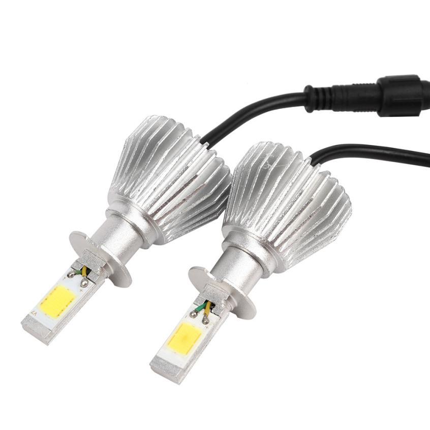 60W 6000LM H3 LED Light Headlight Vehicle Car Hi/Lo Beam Bulb Kit 6000k Whit@31025