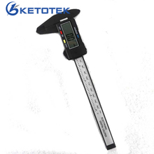 Best price Paquimetro 150mm 6inch LCD Digital Micrometro Electronic Vernier Caliper Gauge Carbon Fiber Micrometer 0.1mm