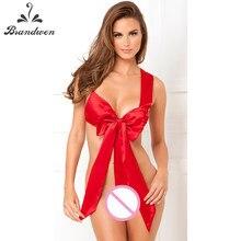 135b0b5129 2017 Nuevo Día de San Valentín sexy lingerie hot Red Bow teddy sexy ropa  interior regalos de navidad Lencería erótica lenceria s.