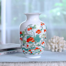 Nuovo Stile Cinese Vaso di Jingdezhen Porcellana Classica Caolino Flower Vase Home Decor Handmade Brillante Famille Rose Vasi(China)