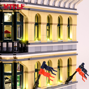 Image 4 - MTELE Brand LED Light Up Kit For Grand Emporium Blocks Compatible With 10211 For Kids Christmas Gift (Not include the model)