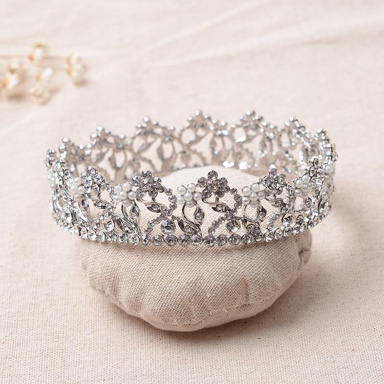 huge crystal tiara vintage flower