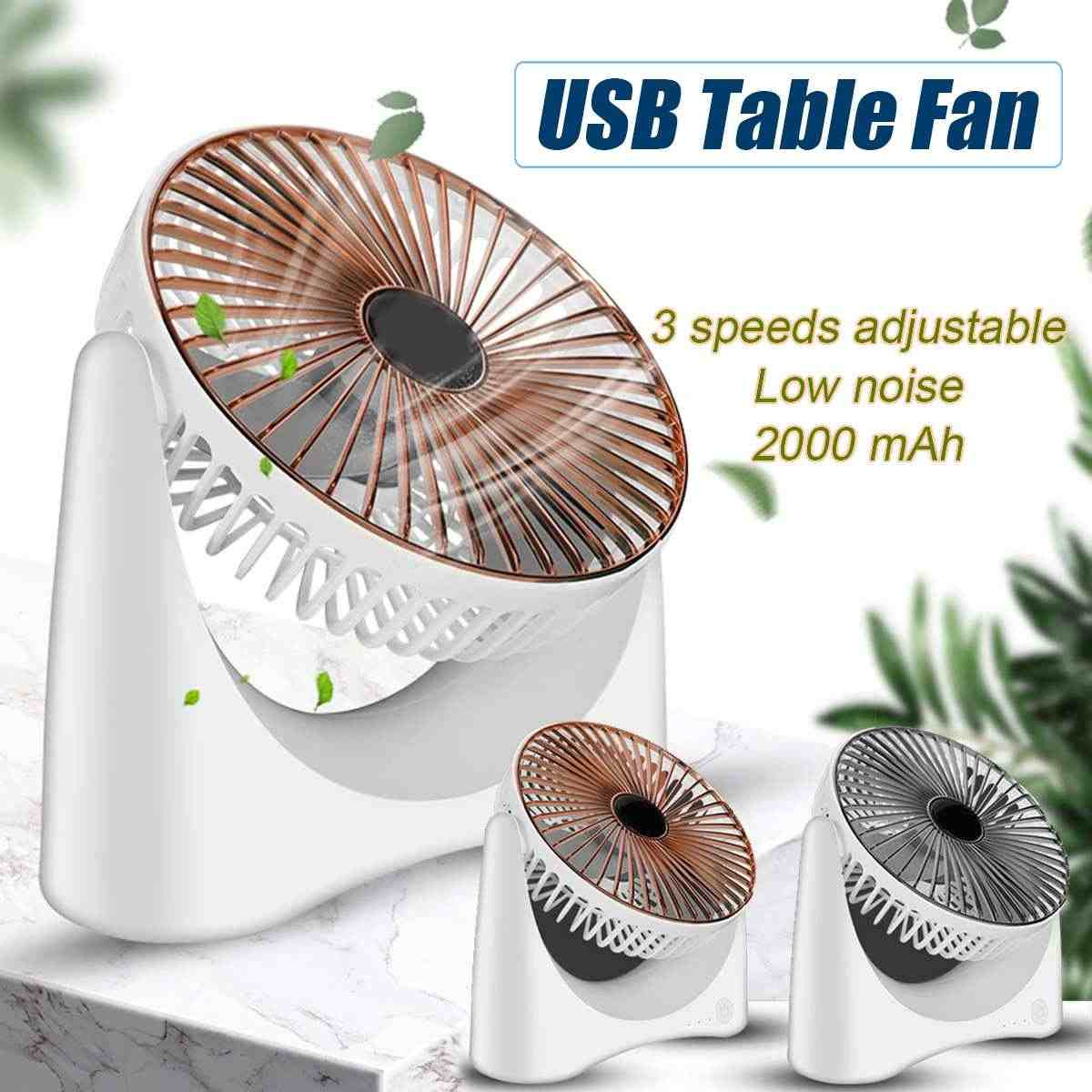USB Rechargeable 5 Speeds Electric Air Circulation Turbo Air Circulator Ventilation Fan Rotating Portable Cooler for Dormitory