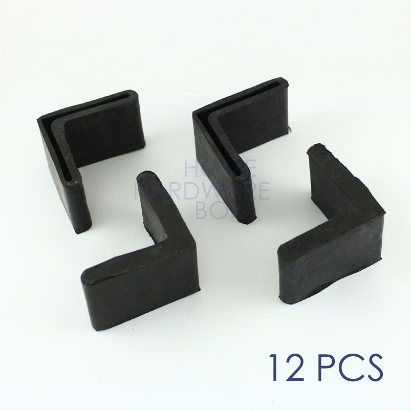Reasonable Furniture Angle Iron Leg Rubber Foot Cover Protector 44mm X 44mm 10pcs Furniture Accessories