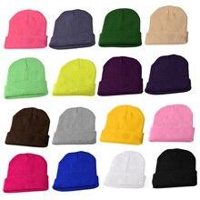 Men And Women Harajuku Fluorescent Headgear Popular Wild Warm Wool Womens Tide Hat Autumn Winter Model Candy Color Knit