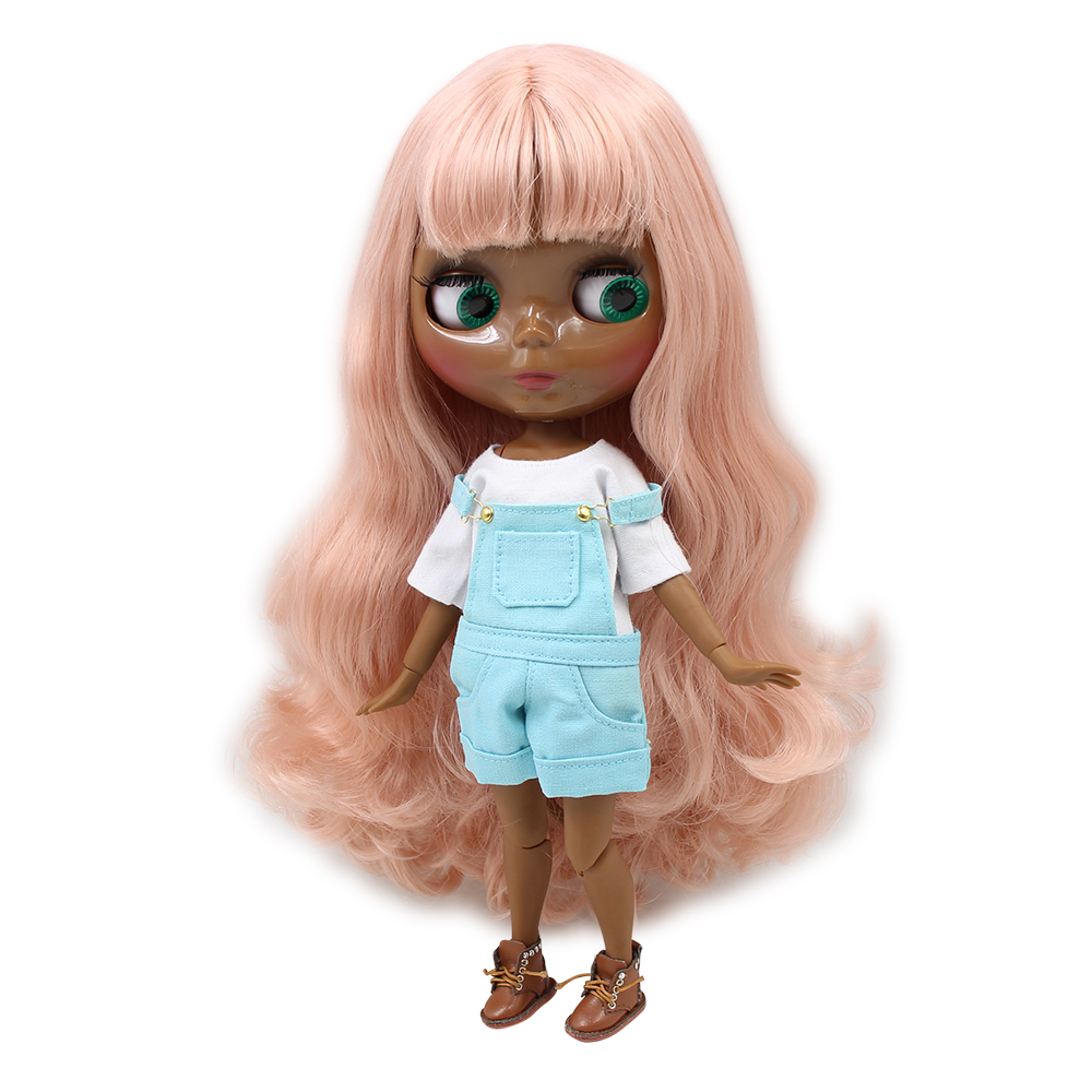 Intelligent Fortune Days Nude Factory Middle Blyth Doll Dark Purple Long Hair With Bangs Suitable For Change Toy White Skin Neo Toys & Hobbies