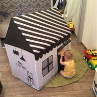 White And Black Kids Toy Tent Colorful Pink Green Red Children Playhouse Teepees Indoor Outdoor Play