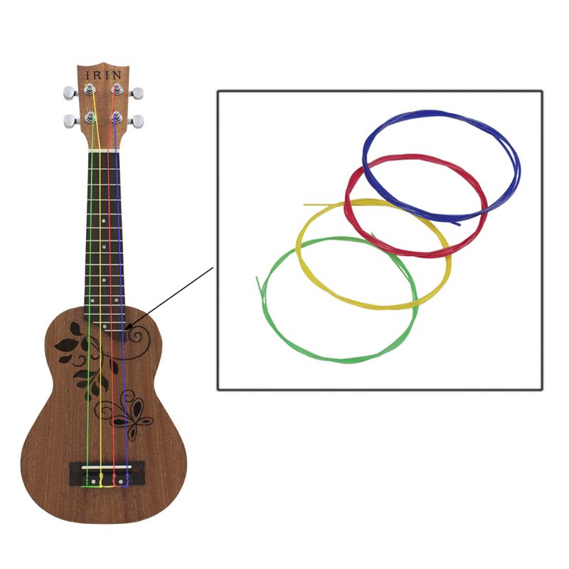 IRIN U104 Colorful Nylon Ukulele Strings 4pcs/set Replacement Part For 21 23 26 Inch Stringed Instrument