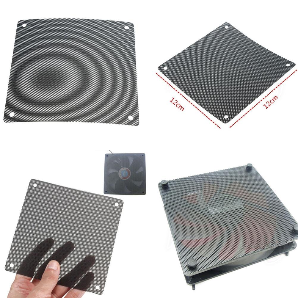 5pcs 120mm Black PC Fan Dust Filter Dustproof Case Computer Mesh