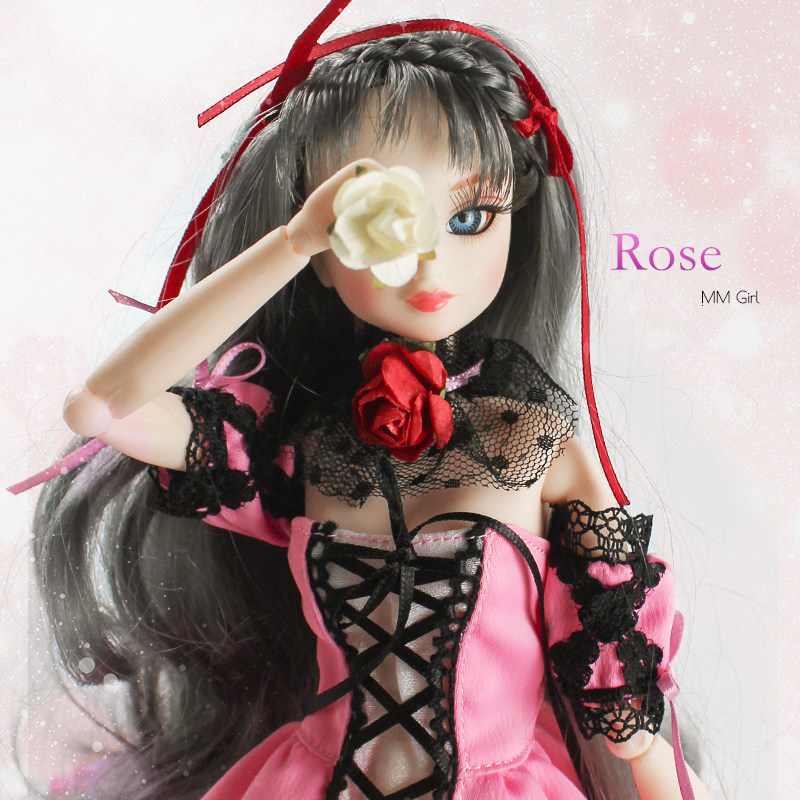 Fortune Days MM Girl like BJD Blyth Doll Rose with makeup Reborn girls 1/6 14Joint body 35CM height High Quality gift toys