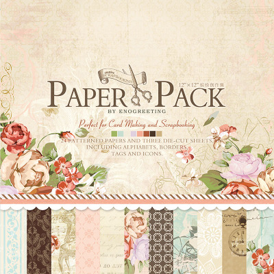 Enogreeting scrapbooking paper flower birds pattern with pre enogreeting scrapbooking paper flower birds pattern with pre cutted paper stickers set of 27sheets papercraft kit mightylinksfo