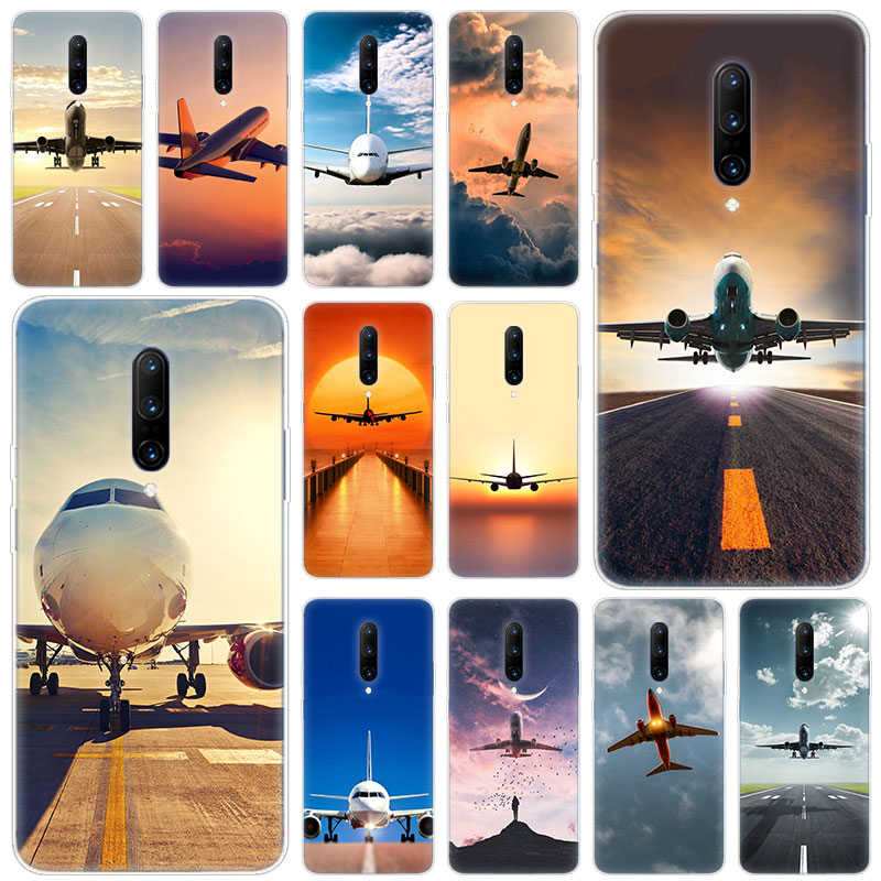 Hot Airplane Departure Soft Silicone Fashion Transparent Case For font b OnePlus b font font b