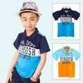 Roupas de verão Da Marca T Shirt Das Crianças Clássico Do Esporte Mais Barato Tees Meninos Carta Padrão Crianças Camisetas Camisas Pólo Mangas Curtas