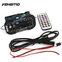 Vehemo Car Multi Functional Card Digital Bluetooth Home Car Amplifier Car Bluetooth HiFi Bass Power AMP