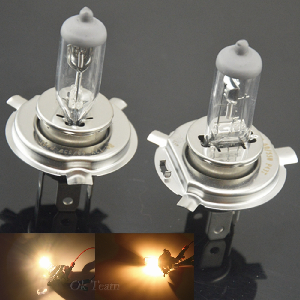 2pcs H4 12V 55W H4 Halogen Xenon Car Light Bulbs Lamp Car Head Light Bulb Factory Price Car Styling Parking Free Shipping 2pcs h11 h8 h9 55w 12v xenon white 6000k halogen car head light globes bulbs lamp h11 hod xenon light free shipping