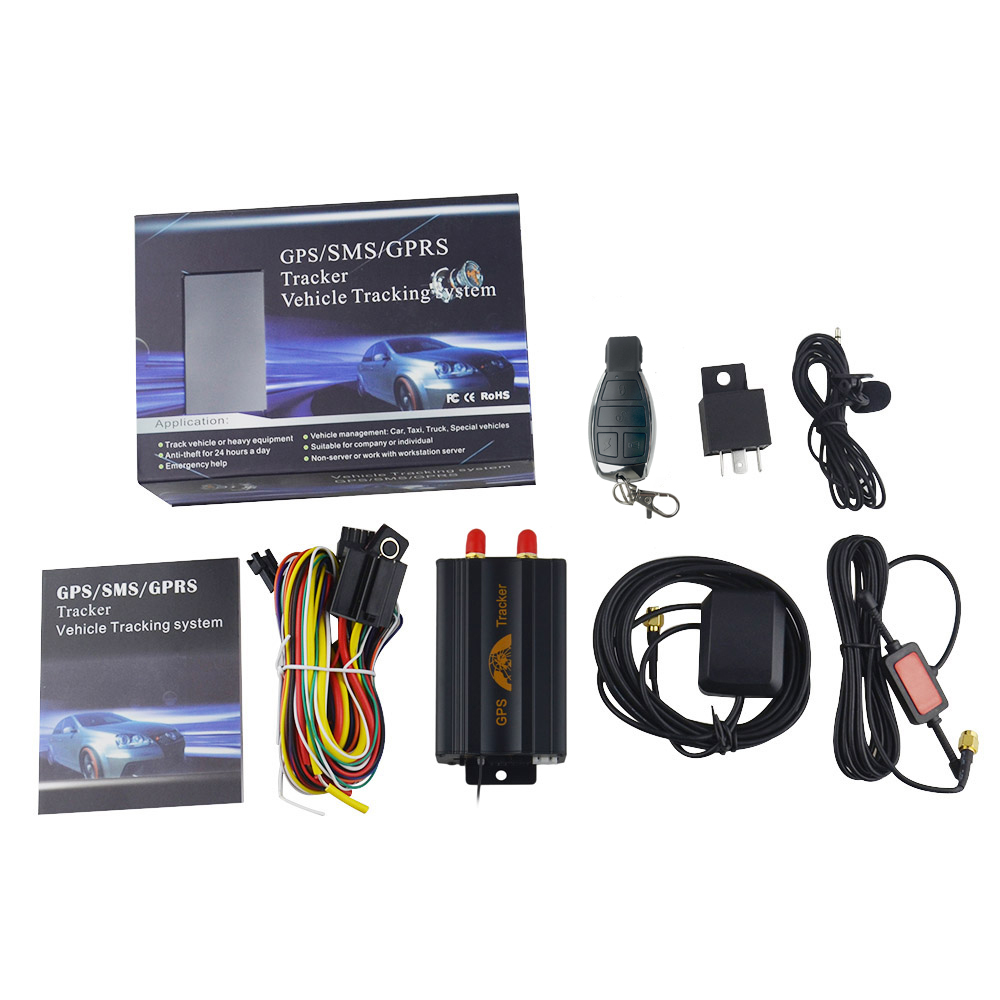 Remote Control GPS Locator GSM Real time SD Card Slot Anti-theft/car alarm system GPS103B TK103b Vehicle Car GPS Tracker No box