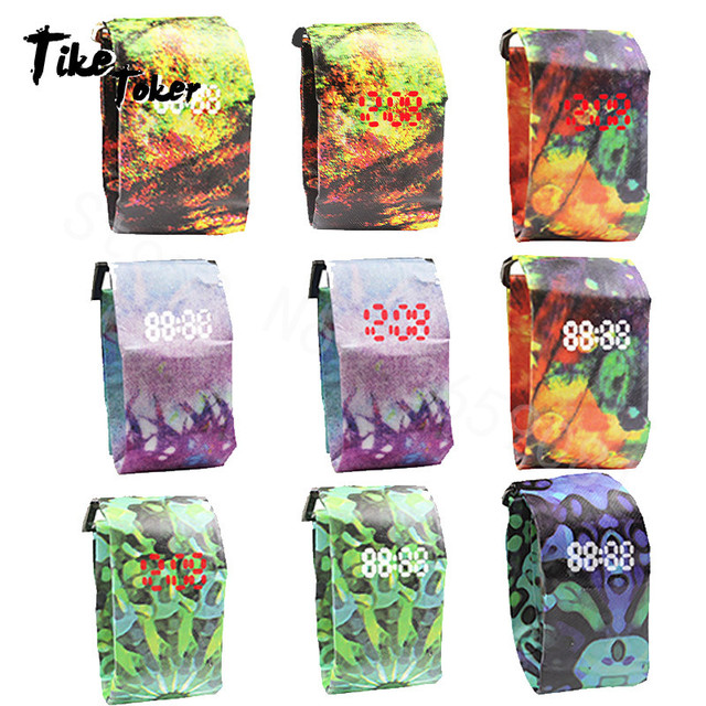 2020 Trendy DIGITAL LED Watch Paper Water/Tear Resistant Watch Perfect Gift 9 Variants  1