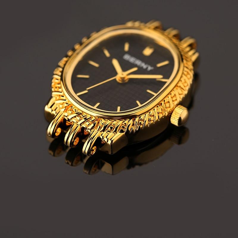 모든 경우에 매우 매력적인 여성 캐주얼 쿼츠 시계 아날로그 손목 시계 여성 시계 reloj 골드 컬러 berny-에서여성용 시계부터 시계 의  그룹 3