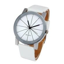 Top Brand Luxury 1PC Men Quartz Dial Clock Leather Wrist Watch Round Case 2016 Mens Watches Male Clock relogio masculino