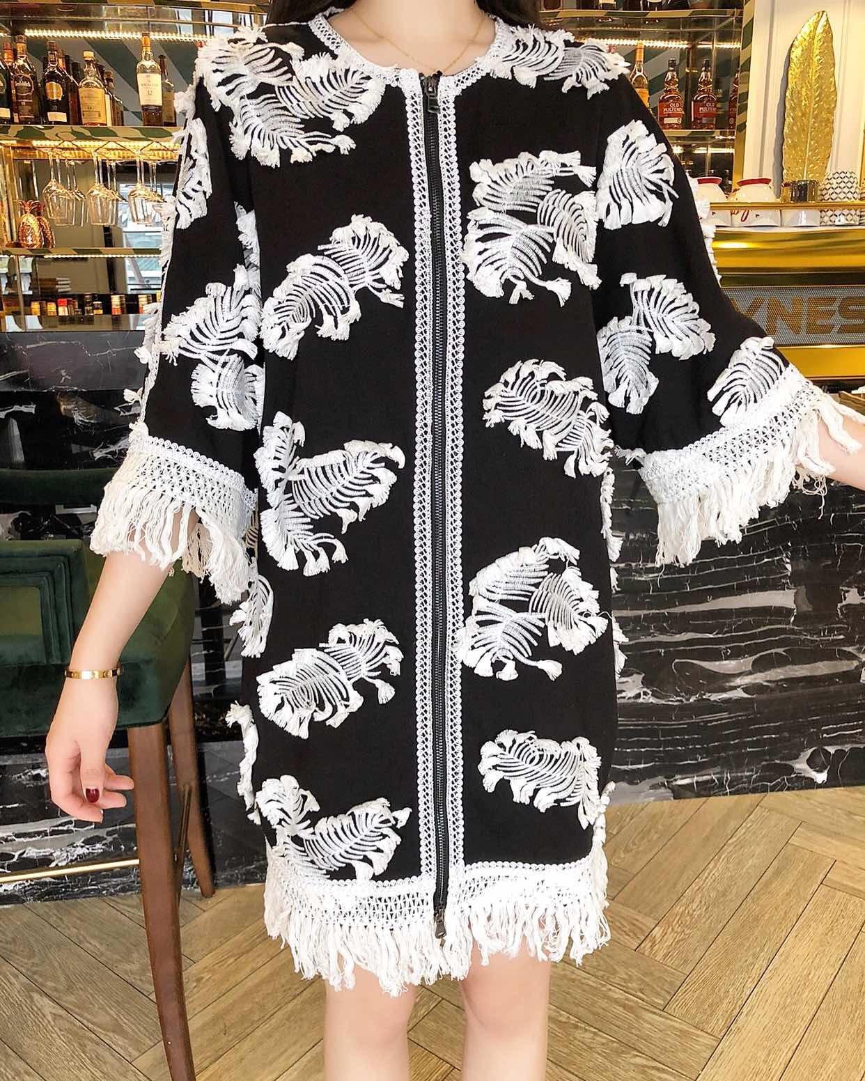 2019 New Embroidery FringeSuper Luxury Dress Women Free Shipping