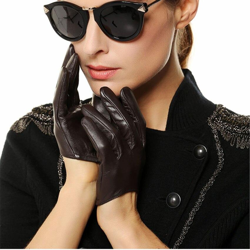 femmes en cuir v ritable gants mme court paragraphe mode. Black Bedroom Furniture Sets. Home Design Ideas
