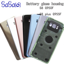 10 Cái/lốc Lưng Kính Thay Thế Dành Cho Samsung Galaxy Samsung Galaxy S8 G950/S8 + S8 Plus G955 G955F Pin Phía Sau cửa Nhà Ở Lưng