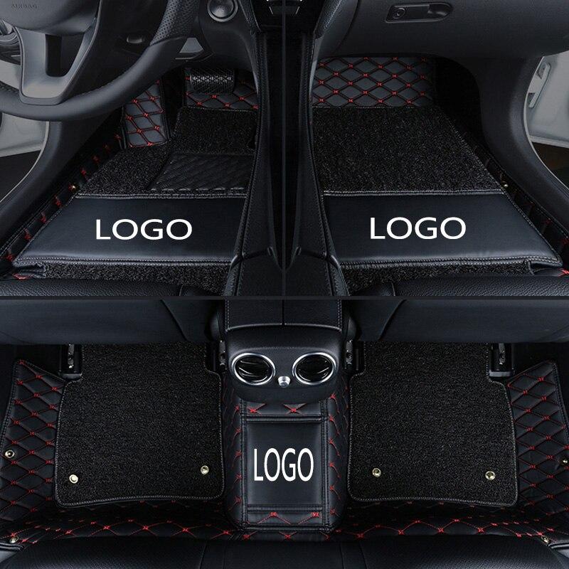 Tapis de sol de voiture logo personnalisé pour Nissan Qashqai Sylphy ensoleillé almera g15 Cefiro X-TRAIL tapis anti-dérapant en cuir imperméable