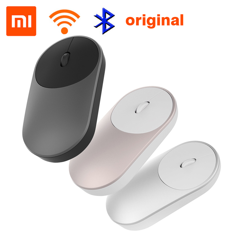 Xiaomi Wireless Mouse Wifi Aluminium-Alloy Portable Bluetooth-4.0 Connect Mode Abs-Material