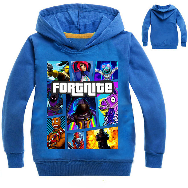2018 New Autumn Long Sleeve Hoodies Children Boy Fortnite Clothing Boys Hoodie Big Girl Sweatshirts Kids Clothes